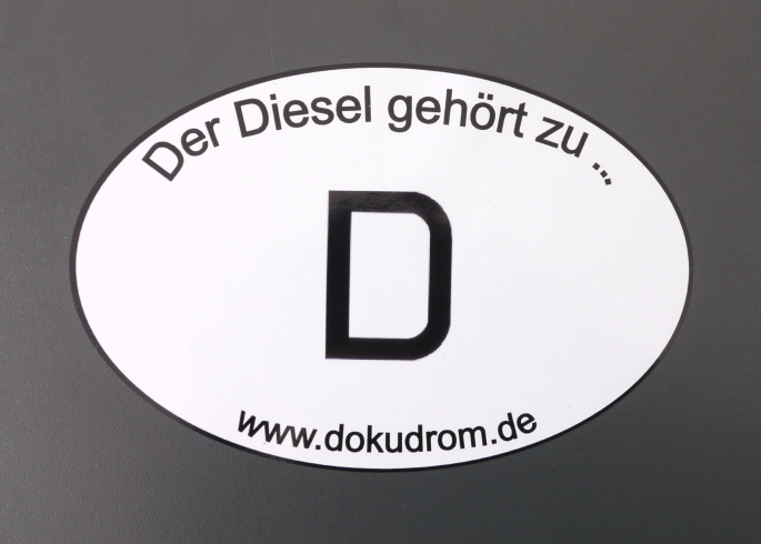 Diesel Autoaufkleber Umwelt Technik Recht